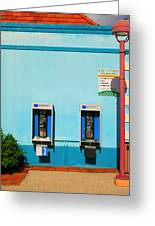 Pay Phones Greeting Card