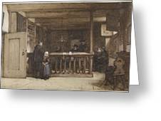 Payday, The Ships Room Right House Nieuw-loosdrecht, Furnished With Seventeenth-century Figures, Joh Greeting Card