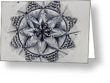 Paynes Gray Mandala2 Greeting Card