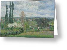 Paysage D'ile De France By Armand Guillaumin Greeting Card