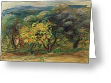 Paysage  Larbre Jaune Greeting Card