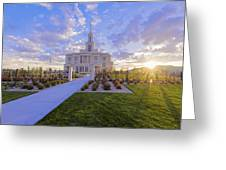 Payson Temple I Greeting Card