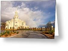 Payson Utah Temple Rainbow Greeting Card