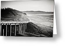 Pch Scenic In Black And White Greeting Card