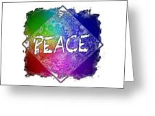 Peace Cool Rainbow 3 Dimensional Greeting Card