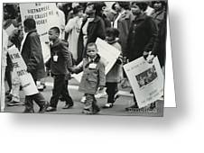 Peace Demonstration 1966 Greeting Card