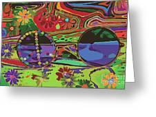 Peace Art Greeting Card by Eleni Mac Synodinos