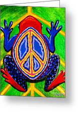 Peace Frog Too Greeting Card