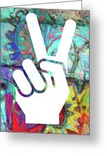 Peace Hand Sign 1  Greeting Card