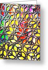 Peace In All Colours Greeting Card