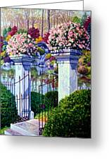 Peace In The Garden Greeting Card