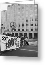 Peace March 1986 Greeting Card