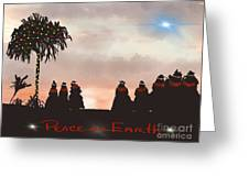 Peace On Earth Greeting Card by Bette Phelan