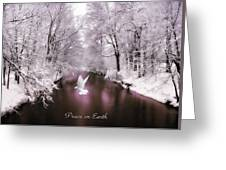 Peace On Earth With Text Greeting Card