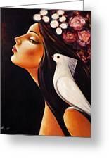 Peace On My Shoulder Greeting Card by Ognian Kouzmanov