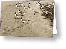 Peace On The Beach Greeting Card