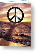 Peace On The Shoreline Greeting Card