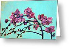 Peace Orchids Greeting Card by Sheila Tajima