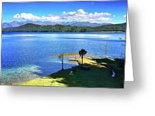 Peace Rara Lake Greeting Card