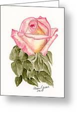 Peace Rosebud Greeting Card