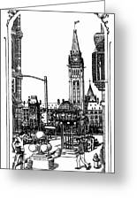 Peace Tower Parliament Hill Ottawa 1995 Greeting Card