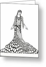 Peace Woman Wild Ink Greeting Card