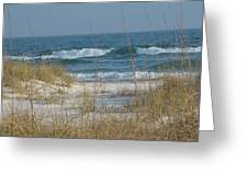 Peaceful  Beach Shoreline Greeting Card