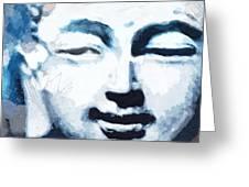 Peaceful Buddha 2- Art By Linda Woods Greeting Card