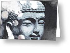 Peaceful Buddha 3- Art By Linda Woods Greeting Card by Linda Woods