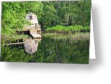 Peaceful Cabin Greeting Card by Desiree Schmidt