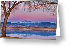 Peaceful Early Morning First Light Longs Peak View Greeting Card