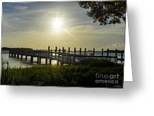 Peaceful Evening At Cooper River Greeting Card