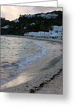 Peaceful Evening On Dawn Beach Greeting Card