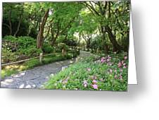 Peaceful Garden Path Greeting Card