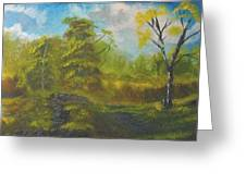Peaceful Land 12x24 By Artist Bryan Perry Greeting Card