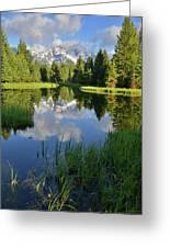 Peaceful Morning In Grand Teton Np Greeting Card