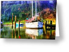 Peaceful Morning In The Cove Greeting Card