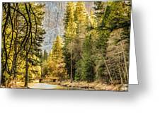 Peaceful Mountain River Greeting Card