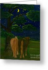 Peaceful Night Greeting Card by Anna Folkartanna Maciejewska-Dyba