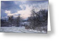Peaceful Pastels Of A Winter Sunset Greeting Card
