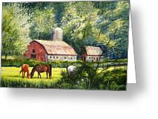 Peaceful Pasture Greeting Card