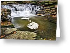 Peaceful Pool Waterfall Greeting Card