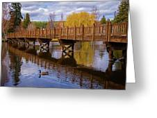 Peaceful Reflections At Drake Park Greeting Card