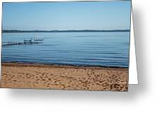 Grand Traverse Bay Beach-michigan  Greeting Card