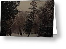 Peaceful Snow Dusk Greeting Card