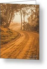Peaceful Tasmania Country Road Greeting Card