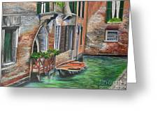 Peaceful Venice Canal Greeting Card