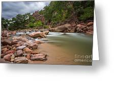 Peaceful Waters Of Zion Greeting Card
