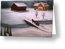 Peaceful Winter Evening Greeting Card