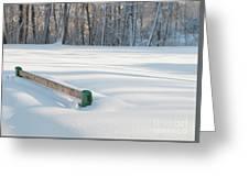 Peaceful Winter Snow Greeting Card